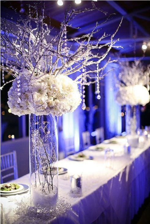 Cold Weather shouldn't make you depressed - throw an elegant #WinterWonderland themed event!