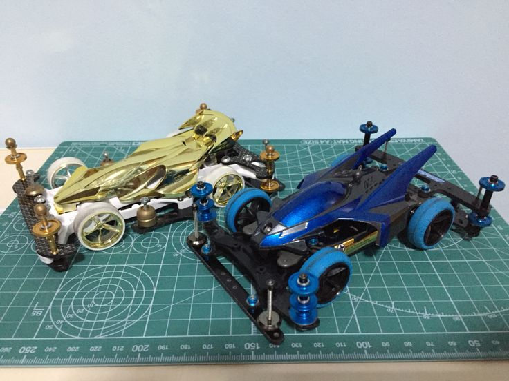 AR(White & Gold) & MS Suspension Car(Blue and Black)