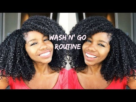 My Wash and Go | Curly Hair Routine for Bouncy Fluffy Hair - YouTube