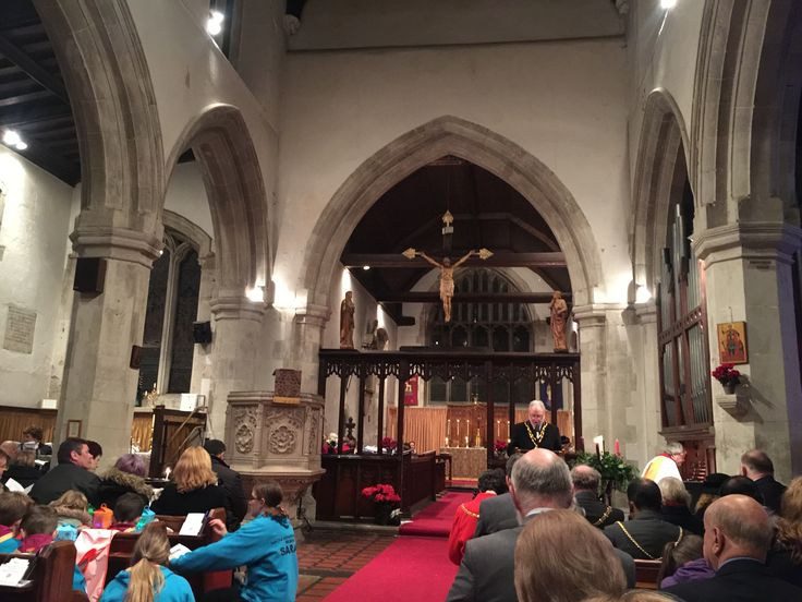 Mayors Carol Service - A Reading by Cllr Chris Slough, Town Mayor.