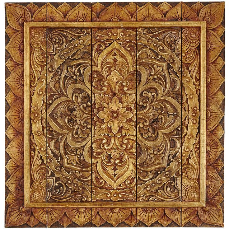 Intricate carved wall panel from pier one quot x add