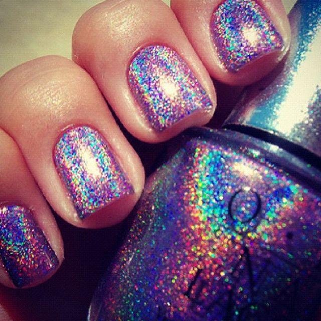 i love itNails Art, Nail Polish, Nails Colors, Makeup, Nailpolish, Glitter Nails, Nails Polish, Holographic Nails, Rainbows Nails