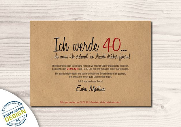 Einladungskarten - Einladung Geburtstag mit Umschlag // Wurzelholz - ein Designerstück von postkartendesign24 bei DaWanda