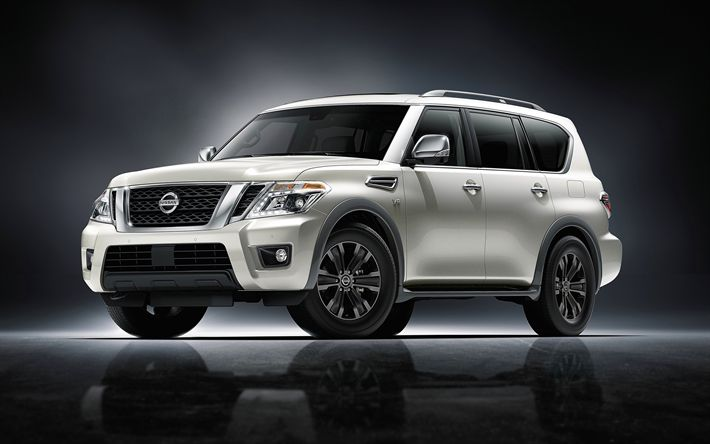 Download wallpapers Nissan Armada, SUVs, 2017 cars, new Armada, japanese cars, Nissan