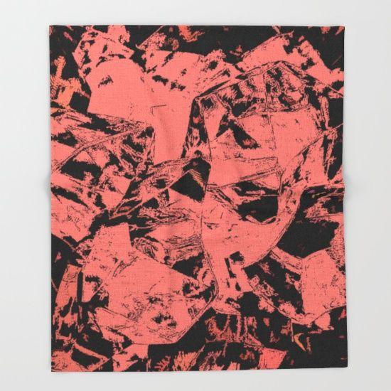 Pink & Black Throw Blanket