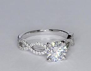 Infinity Twist Engagement Ring, gorgeous.