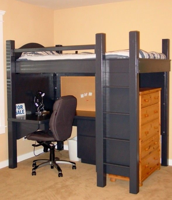 1000 ideas about bed with desk underneath on pinterest lofted beds bunk bed with desk and. Black Bedroom Furniture Sets. Home Design Ideas