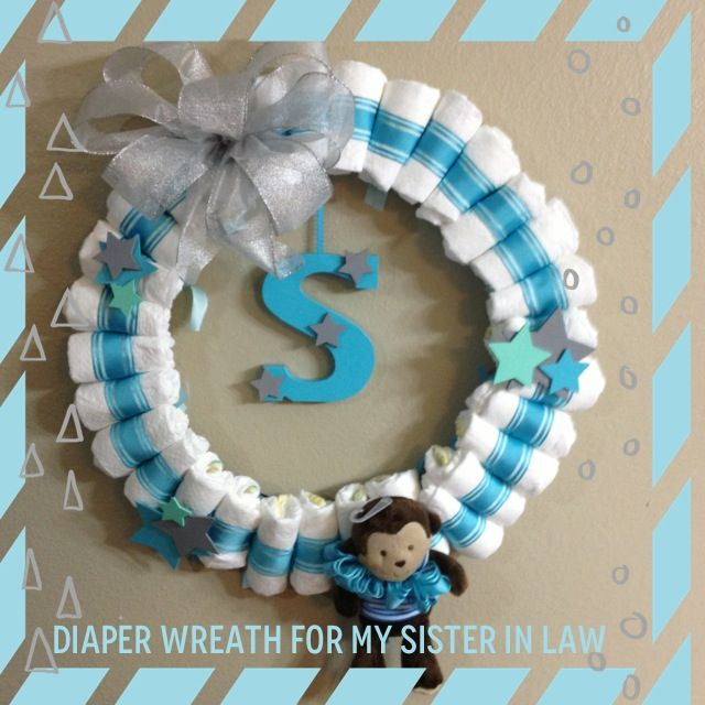 Things To Do With Diapers For A Baby Shower: 25+ Unique Baby Boy Wreath Ideas On Pinterest