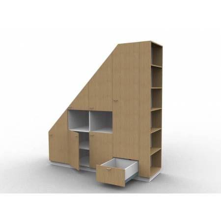 1000 ideas about meuble sous pente on pinterest for Meuble de rangement sur mesure