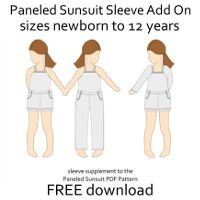 Designs by Call Ajaire Free Sleeve supplement to the Paneled Sunsuit pattern