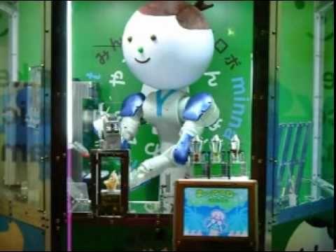 Yaskawa-kun Robot Sells Ice Cream In Japan (やすかわくんのソフトクリーム屋さん)