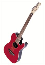 fender telecoustic - sounds great with ball-end nylon strings.