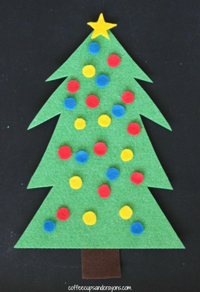 Christmas Tree Decorating Felt Busy Bag for Kids!