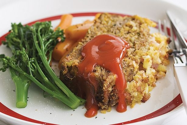 Crunchy-topped meatloaf main image