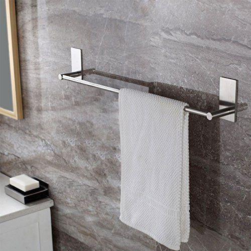 Selbstklebende Handtuchstange Handtuchhalter Ohne Bohren aus Geb�rstetem Edelstahl 70cm