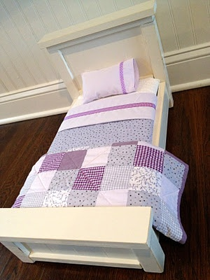 doll bed and bedding