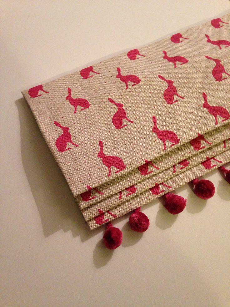Peony & Sage Mini Hops linen roman blind made by Rosebank House Interiors