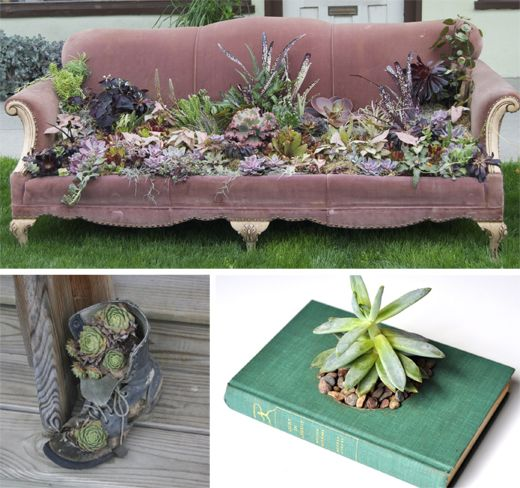 Plants combo upcycled pinterest sofas upcycled for Sofa upcycling