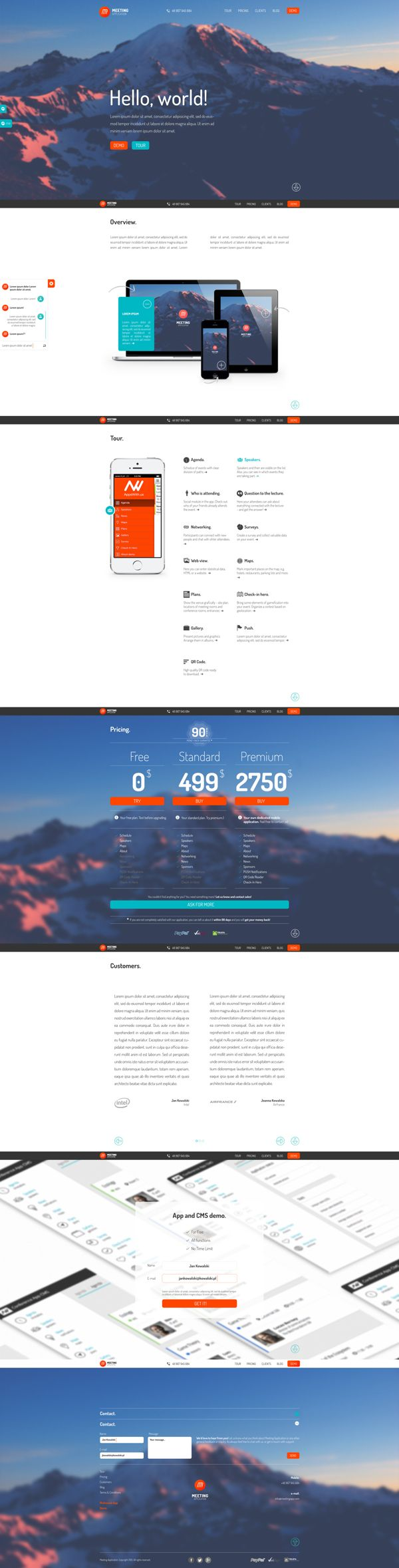 Meeting Application by Piotr Kozak, via Behance #ProntoDigital #WebDesign