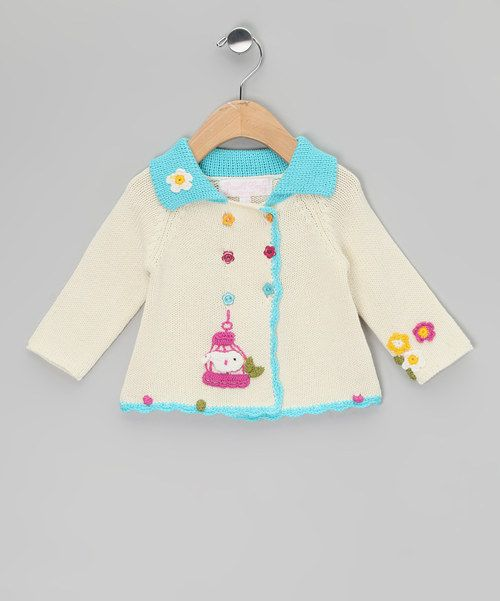 Look at this Cream Birdcage Jacket - Infant on #zulily today!