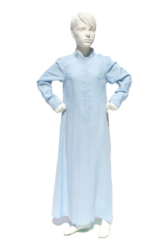 PEACE LILY GIRLS MOROCCAN STYLE LINEN DRESS PASTEL BLUE KAFTAN / ABAYA