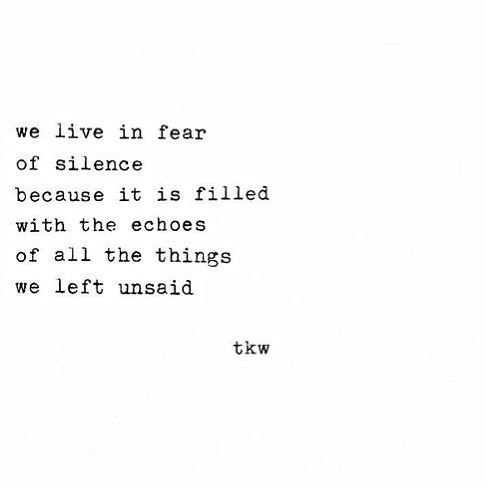 I can't stand silence. I always have some noise in a room from music to the sound of the fan turning.