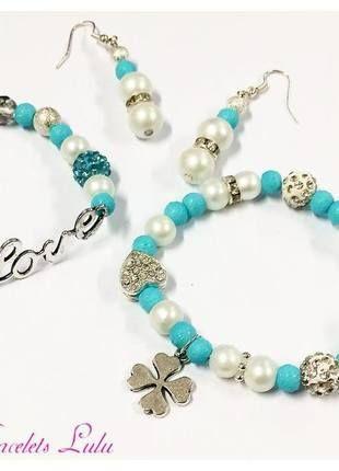 Kupuj mé předměty na #vinted http://www.vinted.cz/doplnky/sety/10594544-krasny-set-love-naramek-ctyrlistek-a-nausnice