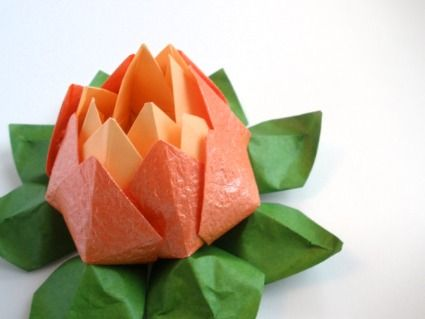 Décoration de table origami Lotus - JuuniOrigami sur Etsy.com