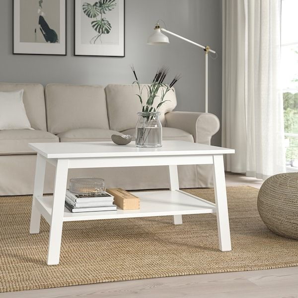 Lunnarp Coffee Table White 35 3 8x21 5 8 Ikea In 2021 - White Coffee Table With Storage Ikea