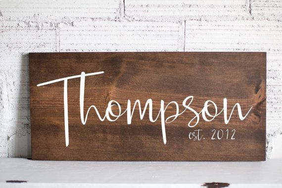 Last Name Wooden Sign  Family Name Wood Sign  by LoveBuiltShop