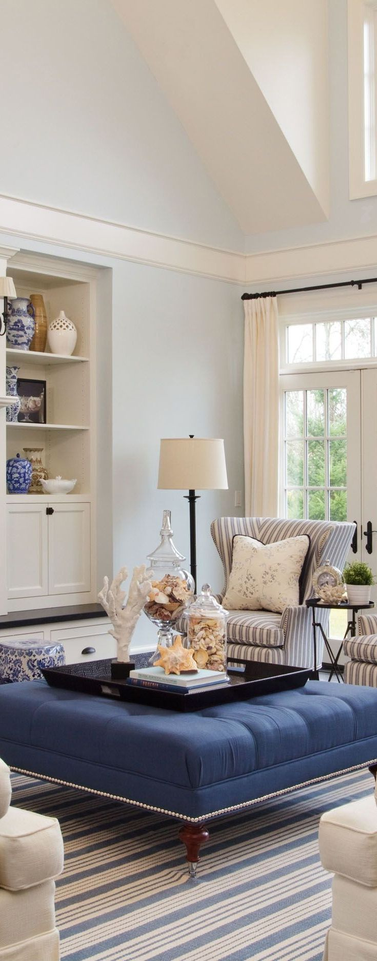 Bring The Sea Indoors With A Coastal Casual Inspired Display In Beautiful Blur Living Room