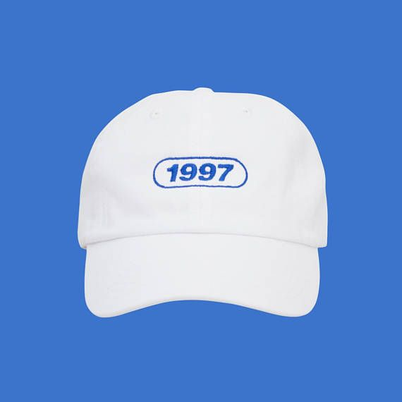 90s Vaporwave White Dad Hat Low Profile Tumblr Aesthetic