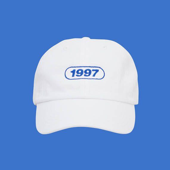 90s Vaporwave White Dad Hat Low Profile Tumblr Aesthetic