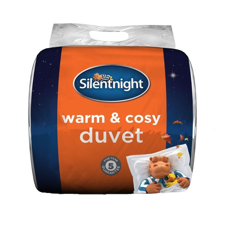 Duvet Double Size Warm And Cosy Bedding Silentnight 13.5 Tog White 200x 200 cm