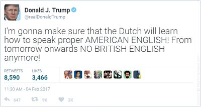 Onderhandelen en overtuigen in het Engels met tips van Trump. Hoe het ook genuanceerder kan lees je in het artikel van SR training Zakelijk Engels voor bedrijven.