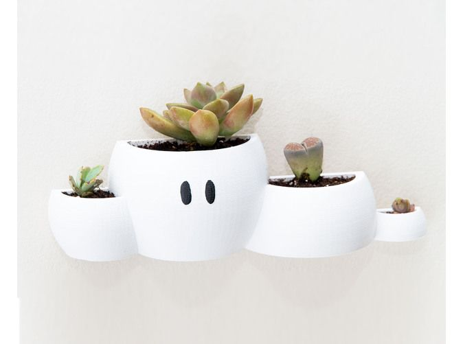 Mario Cloud Wall Planter by Pixil3D