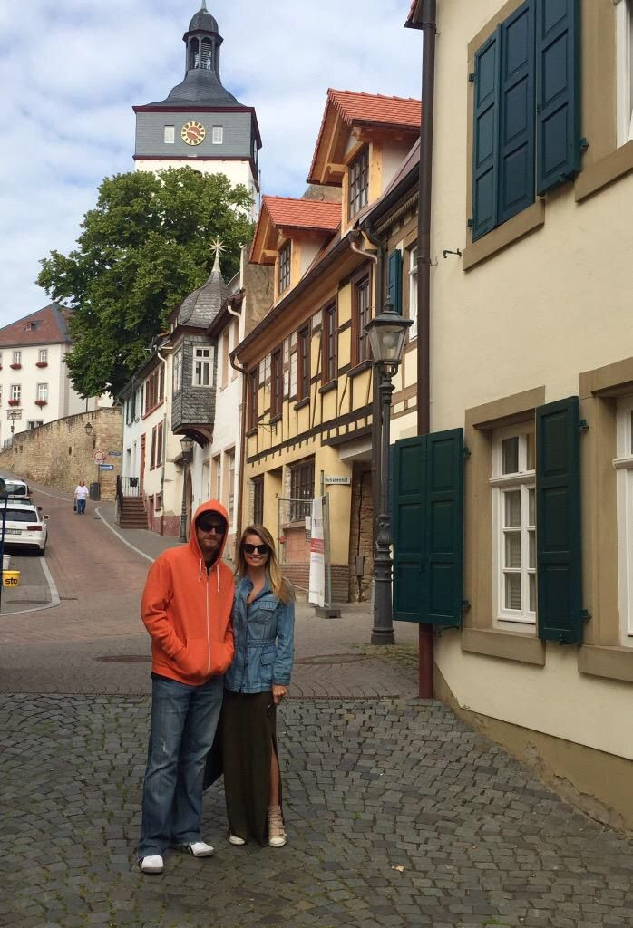 Dale Jr and Amy in Europe