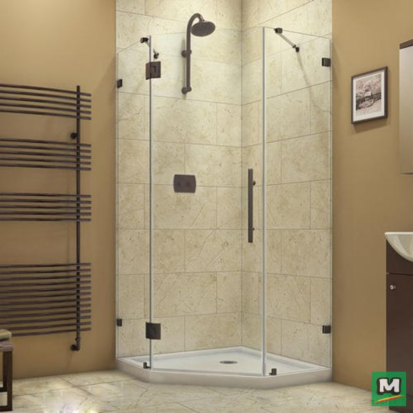 The DreamLine Prism Lux is a fully frameless neo-angle corner shower enclosure with a modern design to transform any shower into a glass oasis. A perfect match to any bathroom space, the Prism Lux shines with obstruction-free style and luxury hardware.