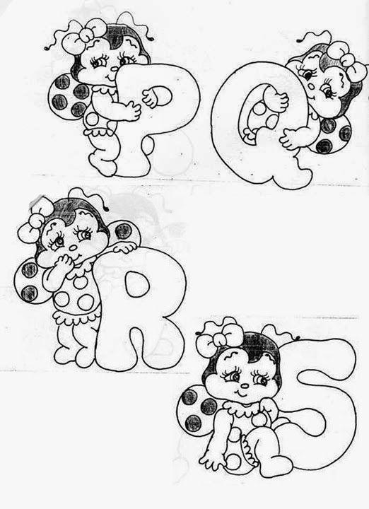 Alfabetos Lindos: Moldes Alfabeto joaninha para colorir!