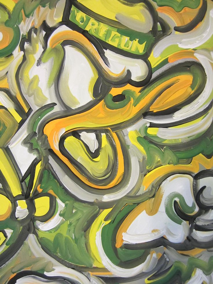Oregon Ducks Painting by Justin Patten Sports Art. $85.00, via Etsy.