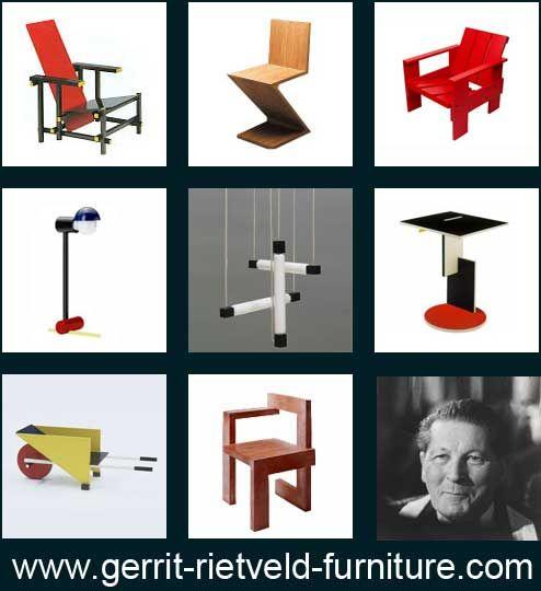 1000 images about de stijl furniture on pinterest joss. Black Bedroom Furniture Sets. Home Design Ideas