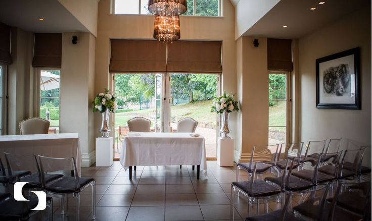 The Garden Room at the Maison Talbooth.  Perfect for a small civil ceremony of up to 50 guests.