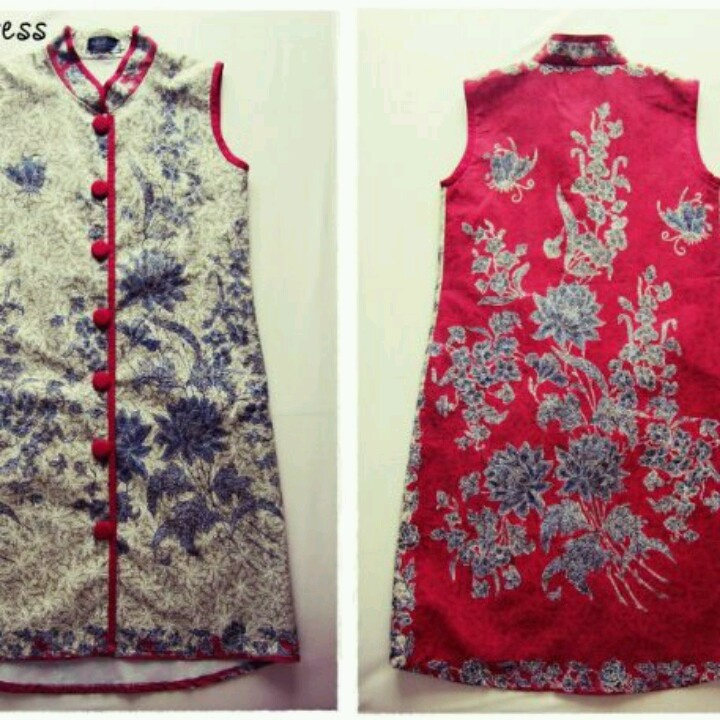Modified batik cheongsam...a fusion of cultures in a dress!