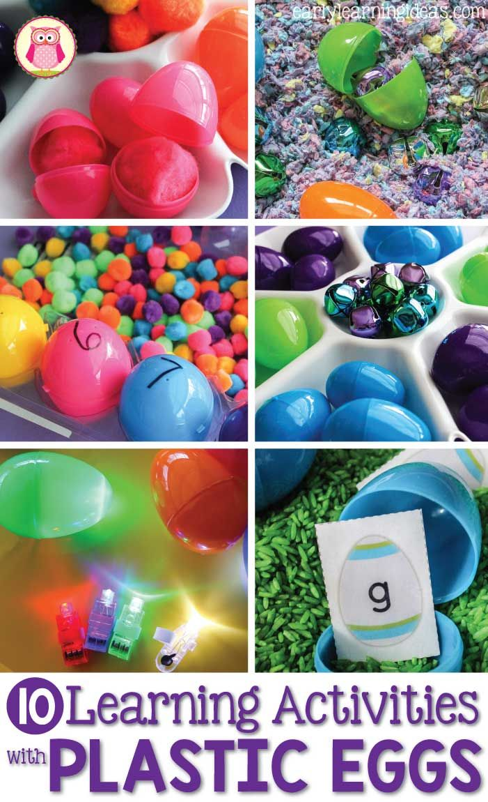 There are many ways you can use plastic eggs in learning activities for preschoolers. Ideas include music and movement, counting, sorting, sensory and STEM, and literacy activities. These are perfect for your Easter, bird, and spring themed units. Perfect for learning centers in preschool, pre-k, prep, and kindergarten.