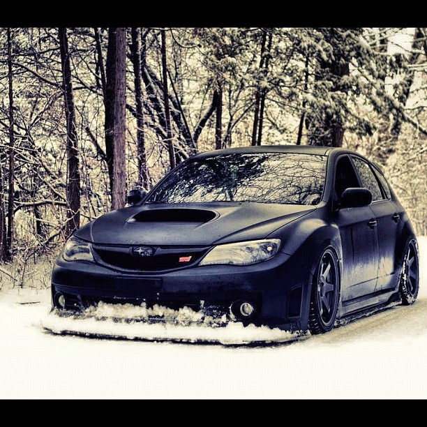 Subaru Impreza WRX STi: I love a car that can mob in the snow!