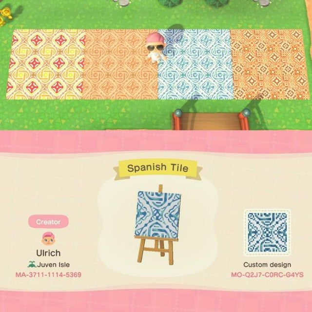 I Made Some Spanish Style Tiles Flooring For Your Villas Acqr In 2020 Animal Crossing Qr New Animal Crossing Animal Crossing