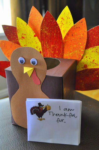 Thankful Turkey Tissue Box | Whatever Dee Dee Wants. #thanksgiving #craft