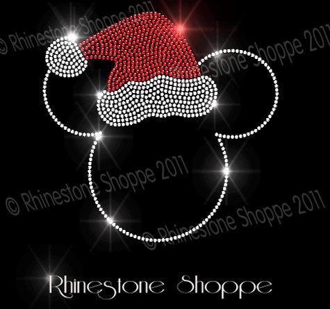 Iron On Rhinestone Holiday Transfer Mickey by bridalblingshoppe, $9.95