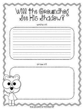 Sizzling image regarding free printable groundhog day worksheets
