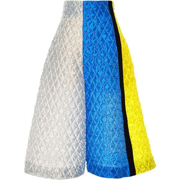 ROKSANDA Jacquard Compton Skirt featuring polyvore women's fashion clothing skirts high-waisted skirts knee length a line skirt mid length skirts high waisted skirts blue skirt